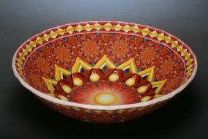 Karin Noyes' polymer cane bowl