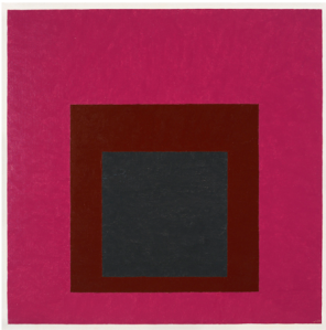 """Josef Albers """"Homage to the Square: Guarded"""" 1952 oil on masonite 24"""" x 24"""""""