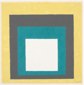 """Josef Albers  """"Homage to the Square"""" 1950-54 oil on masonite 12"""" x 12"""""""