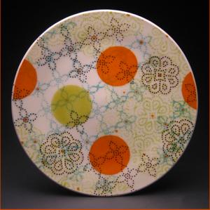 """Dot Dot Doily Dinner Plate 2010 Porcelain  1.5"""" x 12"""" x 12"""""""