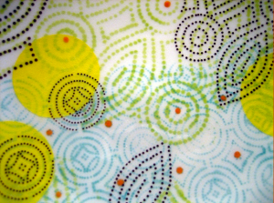 "Dot Dot Diamond Dot Salad Plate (detail)  2010 Porcelain  1.5"" x 7"" x 7"""