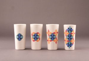 Pattern Inlay Cups
